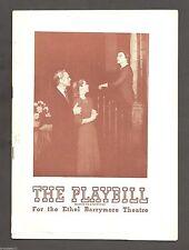 "Diana Barrymore ""REBECCA"" Florence Reed / Bramwell Fletcher 1945 FLOP Playbill"