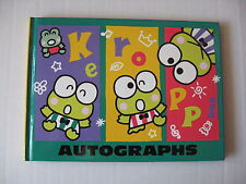 Sanrio Keroppi Frog Autograph Book Pal Collectible Vintage '88,'96 New