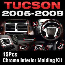 Chrome Interior Air Duct Door Catch Audio Molding C357 For HYUNDAI 05-09 Tucson
