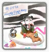 ❤️Wee Forest Folk M-244z Possum's Pizza Party Yuletide SPECIAL Christmas 2005❤️