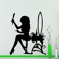 Hair Wall Decal Beauty Salon Stickers Decals Vinyl Hair Girl Woman Decor MN206