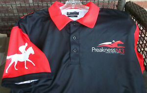 2018 Preakness 143 Horse Racing Mens Size Large Polo Shirt Dyehard Brand