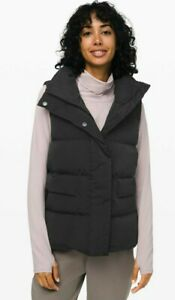 Lululemon In A Flurry Vest Gilet Jacket US12/UK16 Black