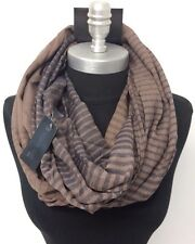 Men's Fashion Infinity Scarf 2-Circle Cowl Wrap Soft HIGH QUALITY Brown/Blue