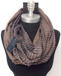 Men's Fashion Infinity Scarf 2-Circle Cowl Wrap Soft HIGH QUALITY Brown/Blue