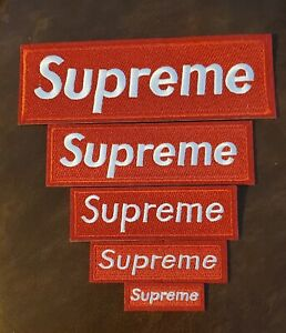 """Supreme Iron/Sew On Patches Pack of 5 Various Size Patches all """"New"""" S M L"""