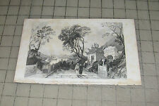 """Vintage  CHAPEL IN THE GREAT TEMPLE, MACAO 6"""" x 9""""  Book Print - Plate"""