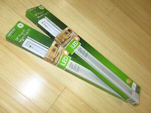 Lot of 2 New GE 18 inch 46 cm LED Plug In Light Bar 230 Lumens 4.3 Watts White