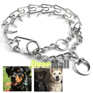 "Dog Training Prong Collar Pinch Choke Chain Steel Metal Adjustable 16""-22"" LARGE"