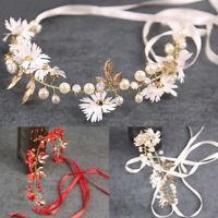 Women/Girl/Bridal's Flower Pearl Wedding Hair Band Headband Headdress Headwear