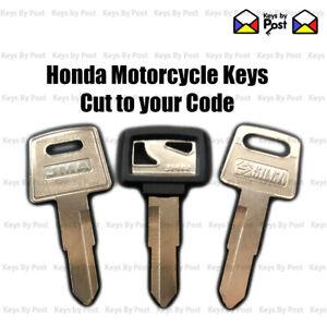 Honda Motorbike Motorcycle Ignition key cut to code. Motorbike / ATV / Quad