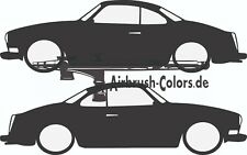 Aufkleber / Sticker VW-Karmann-Ghia Silhouette *Tuning*Stickerbomb