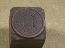Vintage Nash ? Letterpress Printers Block Advertising Stamp