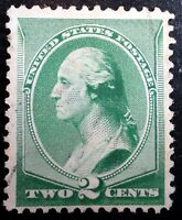 Beautiful 1887 1888 ABC New Color Green Washington 2c Stamp Scott# 213 J172