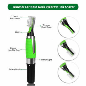 Personal Hair Trimmer Groomer Nose Ear Eyebrows Neck Hair Remover Shaver Light