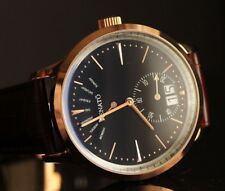New Mens Renato 43mm CP6 Swiss Retrograde Day Date Classic Brown Leather Watch