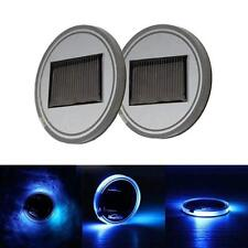 2x Solar Cup Pad Car accessories LED Light Cover Interior Decoration Lights PO1