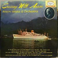 ANSON WEEKS cruising with LP VG FANTASY 8051 Blue Vinyl Stereo USA 1960 Record