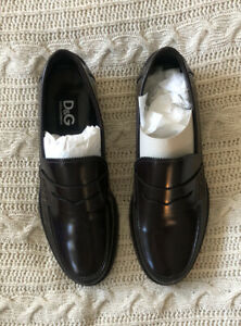 D&G Dolce & Gabanna men dress shoes - leather - EU 42 UK 8 - Made in Italy BNWOB