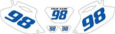 2001-2002 Yamaha WR250F Pre-Printed White Backgrounds with Blue Numbers