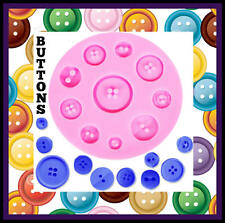 BUTTONS SILICONE MOULD. PERFECT FOR FONDANT SUGAR CRAFT. ECT