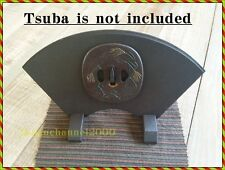Tsuba Tuba Stand Samurai black Type Traditional design Craftsman manufactured