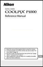 Nikon Coolpix P1000 Instruction Owner User's Manual Book - New