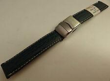 New ZRC France Green Shark 18mm Watch Band Steel Deployment Sealock Clasp $34.95