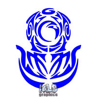 DEEP SEA DIVER Tribal Vinyl Sticker / Decal Ocean Scuba Ocean Commercial Diving