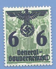 Germany Nazi Third Reich 1940 Occupation Poland Swastika Eagle 6 Stamp WW2 ERA