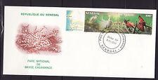 ASg/ Sénégal   gde  enveloppe  1er jour parc de basse Casamance  oiseaux 1987