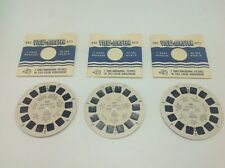 Vintage 1952 Lot 3 View-Master Reels Travel Geography Sawyers NYC New York City