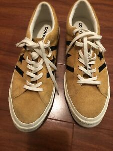 New Converse One Star Orange Suede Shoes Mens 9.5 Womens 11.5