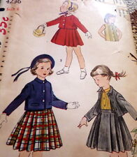 *LOVELY VTG 1940s GIRLS SUIT & BLOUSE Sewing Pattern 6