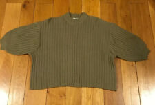 Urban Outfitters Textured Wide Sleeve Jumper Extra Small Khaki Green XS VGC