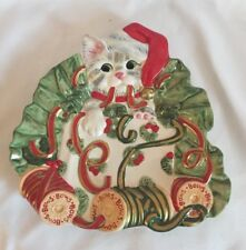 Fitz and Floyd Kitty Kringle Canape Plate