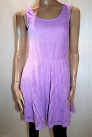COTTON ON Brand Neon Violet Woven Textured Lined Skater Dress Size S BNWT #TU45