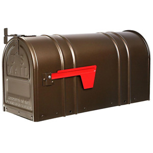 Mailbox Post Mount Bronze Heavy Duty Steel Large Metal Antique Classic Style New