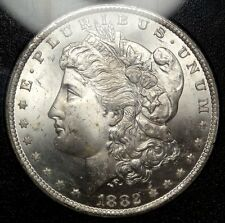 1882-CC Morgan Dollar, Bright Fresh Choice Uncirculated Coin, GSA Holder 1122-02