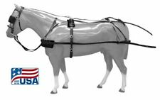 New! Horse Size Premium Quality Synthetic Driving Harness! Made In The Usa!