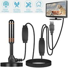 HDTV Aerial Indoor Digital TV Antenna+High Gain Booster And Low Noise Amplifier