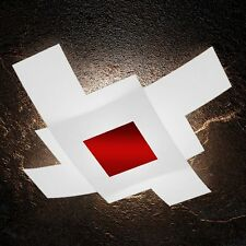 Plafoniera in vetro bianca e rossa moderna a 4 luci tpl 1121/95-RO