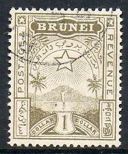 BRUNEI USED 1895 SG10 $1 Yellow -olive