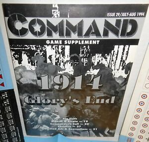 BOARD WARGAME Command #29 1914 Glory's End Game Supplement op GAME ONLY 1994