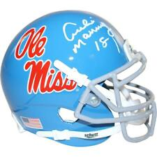 Archie Manning Signed Ole Miss Powder Blue Replica Mini helmet - Fanatics