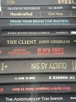 Lot of 10 Hardcover BLACK Book Staging Prop Decor Decorative HC Clean Display