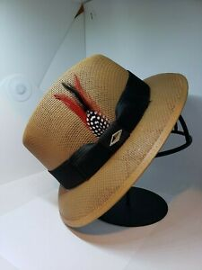 Mens Classic camel  lowrider center crease  hat fedora Derby