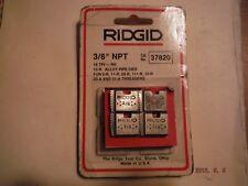 "Ridgid 37820 Model 12-R 3/8"" NPT Right Hand Pipe Threading Dies 18 TPI"