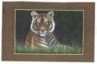 Vida Salvaje Bengala Tigre Étnico Antigua Papel Hecho Decoración Hogar Pintura