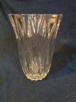 Grande Vaso Vintage in Cristallo Vetro Pressa Stampo 1960 70 Antico